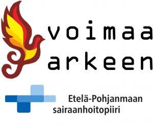 Voimaa arkeen- ja Etelä-Pohjanmaan sairaanhoitopiirin logot